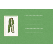 Veggie Table Beans Journal card 4x6