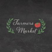 Veggie Table Farmers Market Journal card 4x4