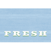 Veggie Table Fresh Journal card 4x6