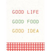 Veggie Table Good Life Journal card 3x4