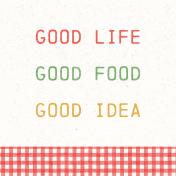 Veggie Table Good Life Journal card 4x4