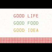 Veggie Table Good Life Journal card 4x6