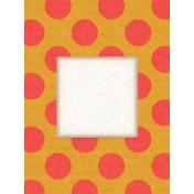 Veggie Table Polka Dot Journal card 3x4