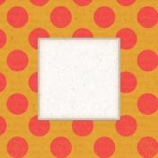 Veggie Table Polka Dot Journal card 4x4