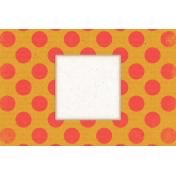 Veggie Table Polka Dot Journal card 4x6