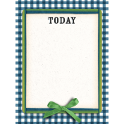 Veggie Table Today Journal card 3x4