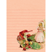 Veggie Table Wheelbarrow Journal card 3x4