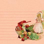 Veggie Table Wheelbarrow Journal card 4x4