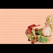 Veggie Table Wheelbarrow Journal card 4x6