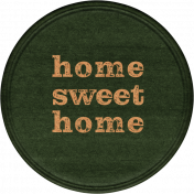 Cozy At Home Round Sticker Homesweet