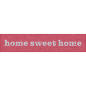 Cozy At Home Word Art Home Sweet home