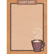 Cozy at Home Cozy Life Journal Card 3x4