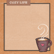 Cozy at Home Cozy Life Journal Card 4x4