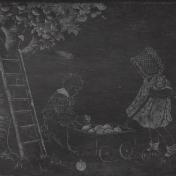 Mulled Cider Picking Apples Chalkboard Paper