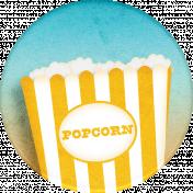 Pajama Party Boys Sticker Popcorn