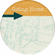 Hometown Round Sticker Going Home