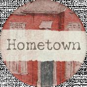 Hometown Round Sticker Hometown