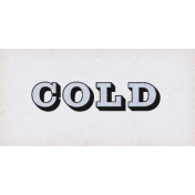 Apricity Cold Word Art Snippet