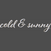 Apricity Word Art Cold & Sunny