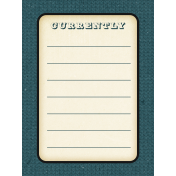 Apricity Currently 3x4 Journal Card