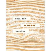 Apricity Sunshine 3x4 Journal Card