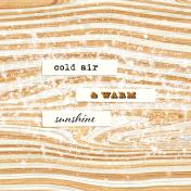 Apricity Sunshine 4x4 Journal Card