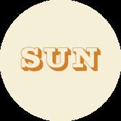 Apricity Print Wordart Label Sun