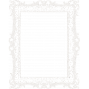 Healthy Measures White Frame Stamp