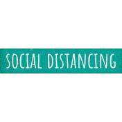 Healthy Measures Social Distancing Word Art