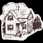 Healthy Measures Print Element House Sticker