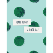 Healthy Measures Print: Good Day Journal Card 3x4