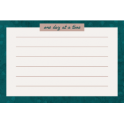 Healthy Measures Print: One Day Journal Card 4x6