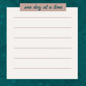 Healthy Measures Print: One Day Journal Card 4x4