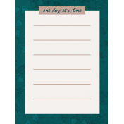 Healthy Measures Print: One Day Journal Card 3x4