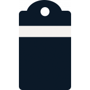 Healthy Measures Print Element Tag Navy