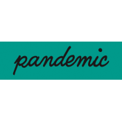 Healthy Measures Print Element Word Art Pandemic