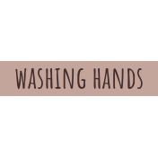 Healthy Measures Print Element Word Art Washing Hands