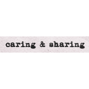 Better Together Caring & Sharing Word Art Snippet