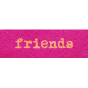 Better Together Friends Word Art Snippet