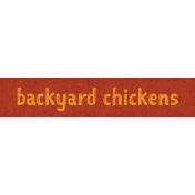 Chicken Keeper Element Word Art Backyard Chickens