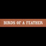 Chicken Keeper Element Word Art Birds of a Feather