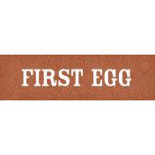 Chicken Keeper Element Word Art First Egg