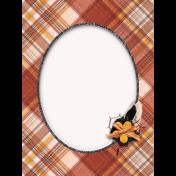 Chicken Keeper Plaid 3x4 Journal Card