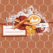Chicken Keeper Wire 4x4 Journal Card
