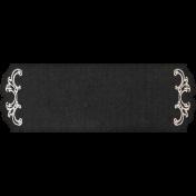 Rustic Wedding Black Fancy Label