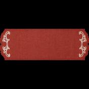 Rustic Wedding Red Fancy Label