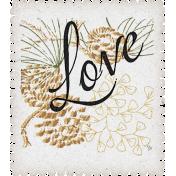 Rustic Wedding Love Postage Stamp