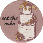 Rustic Wedding Cake Sticker