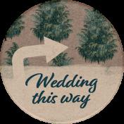 Rustic Wedding- Wedding Sticker