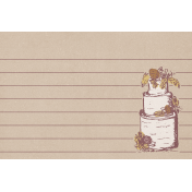 Rustic Wedding Journal Card Cake 4x6